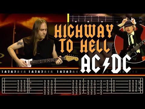 cours de guitare apprendre highway to hell d 39 ac dc youtube. Black Bedroom Furniture Sets. Home Design Ideas