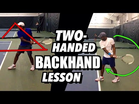 Tennis Lesson: Two Handed Backhand Technique - Drills and Tips