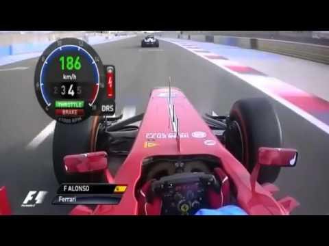 F1 2013-Bahrain Fernando Alonso 3 vueltas a bordo