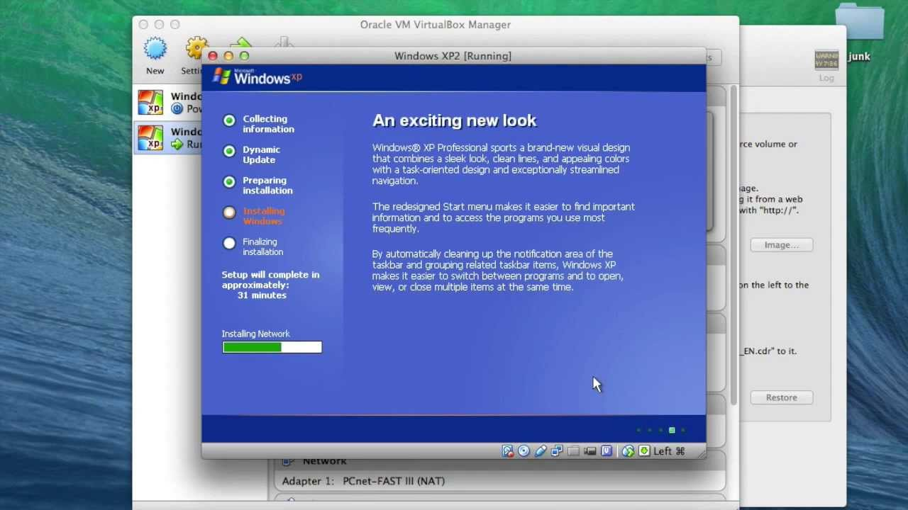 Install Windows XP in VirtualBox on OS X. Part 1: Fresh Install - YouTube