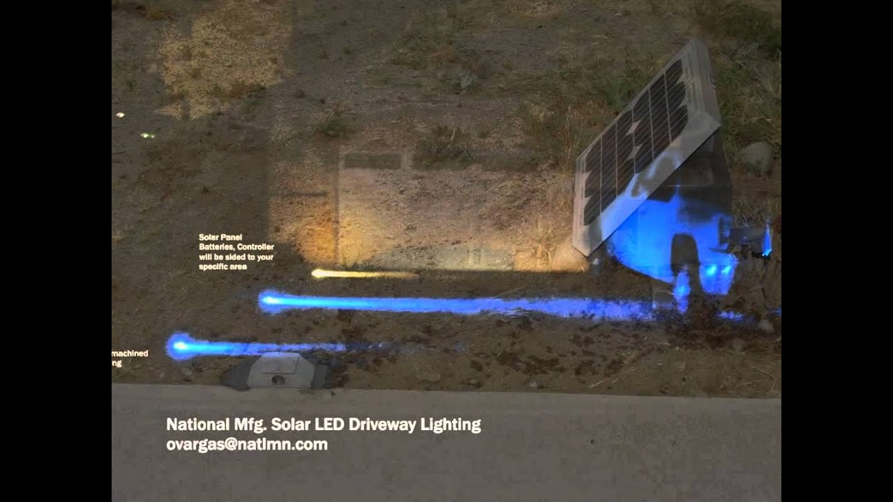 Solar LED Driveway Lighting High Power LED any color & Solar LED Driveway Lighting High Power LED any color - YouTube azcodes.com