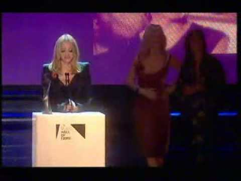 The Queen of Pop Madonna UK Hall Of Fame Induction 2004