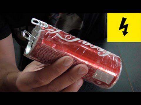 видео: бесплатное электричество! электрическая банка шокер !!!! the shock of cans of cola