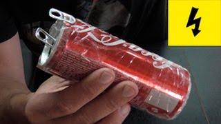 бесплатное электричество! электрическая банка шокер !!!! the shock of cans of Cola