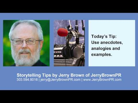 Storytelling Tip | Use Anecdotes, Analogies & Examples