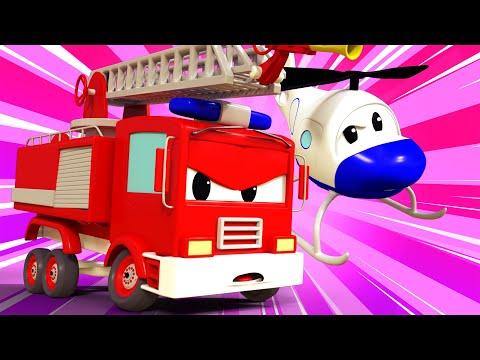 หน่วยลาดตระเวนรถ 🚒 ล้อเจ้าปัญหาของเจอร์รี่ 🚨 การ์ตูนรถตำรวจและรถดับเพลิงสำหรับเด็ก Cartoon for Kids