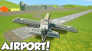 AIRPORT UPDATE & FLYING PLANES! - Brick Rigs Multiplayer Gameplay - City Airport Update Gameplay