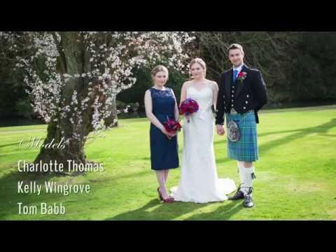 Bibury Court Wedding shoot with a Scottish French theme