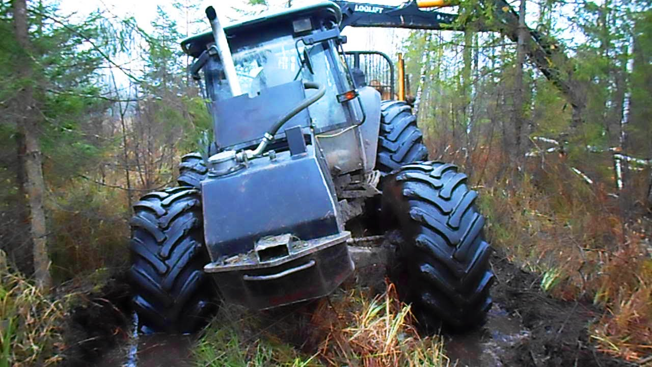 Valtra Forestry Tractor Difficult Road Youtube