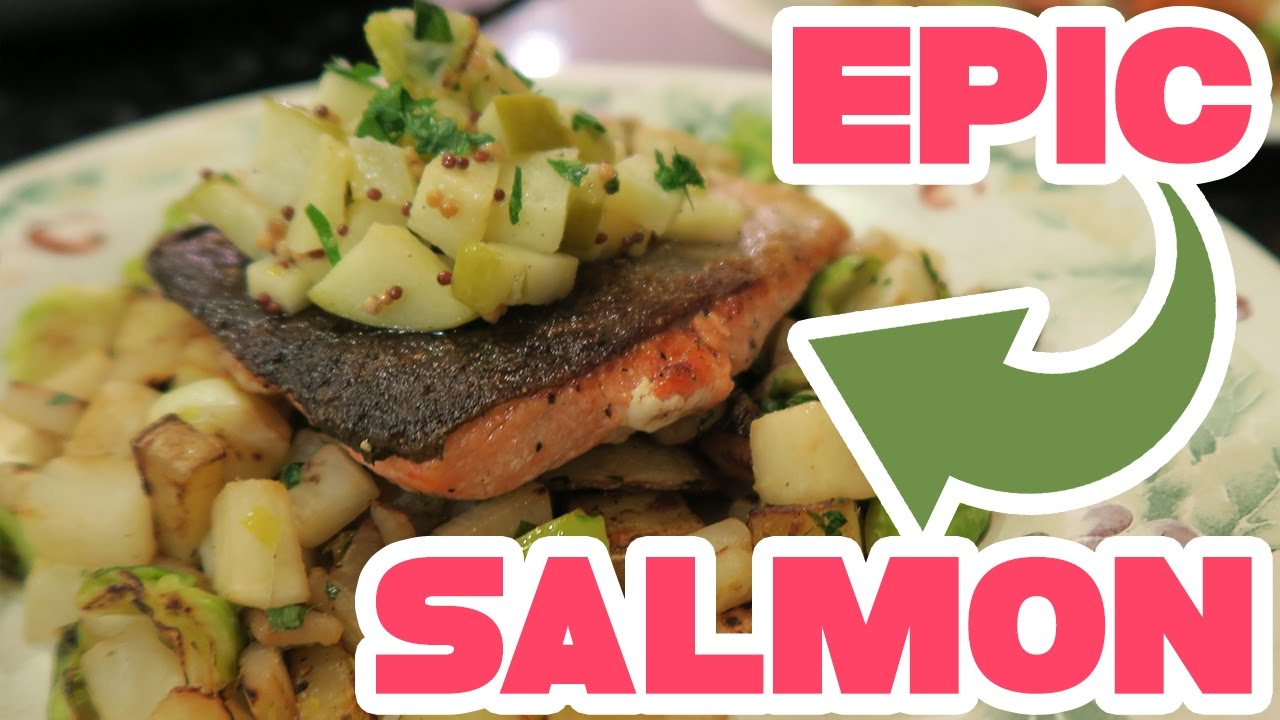 Blue apron salmon - Epic Seared Salmon Cooking With Adrive Seared Salmon And Fall Vegetables Featuring Blue Apron