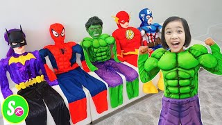 Laughing Baby with Family | SuperHero Kids and Song Nursery Rhymes