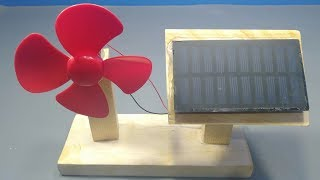 Free Energy Powered Fan _ How to Make Diy Solar Powered Fan