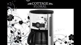Капельная кофеварка Russell Hobbs Cottage Floral 18514-56. Распаковка, обзор.