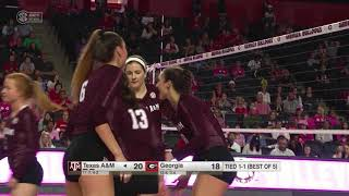 Volleyball | Highlights: A&M 3, Georgia 2