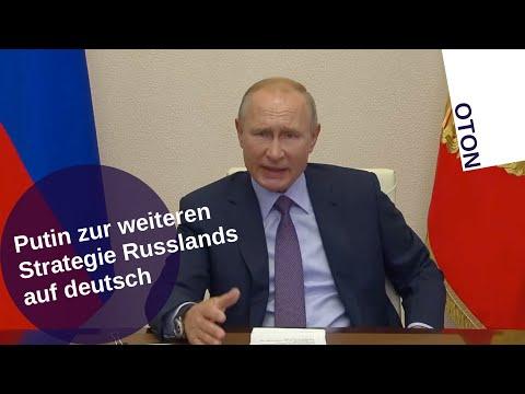 Putin zur weiteren Strategie Russlands auf deutsch
