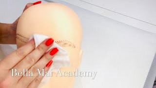Removing China Marker from a Plastic Dolls Head  -  Permanent Makeup Tips