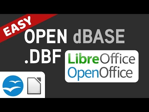 Open .dbf DBASE File In LibreOffice/OpenOffice