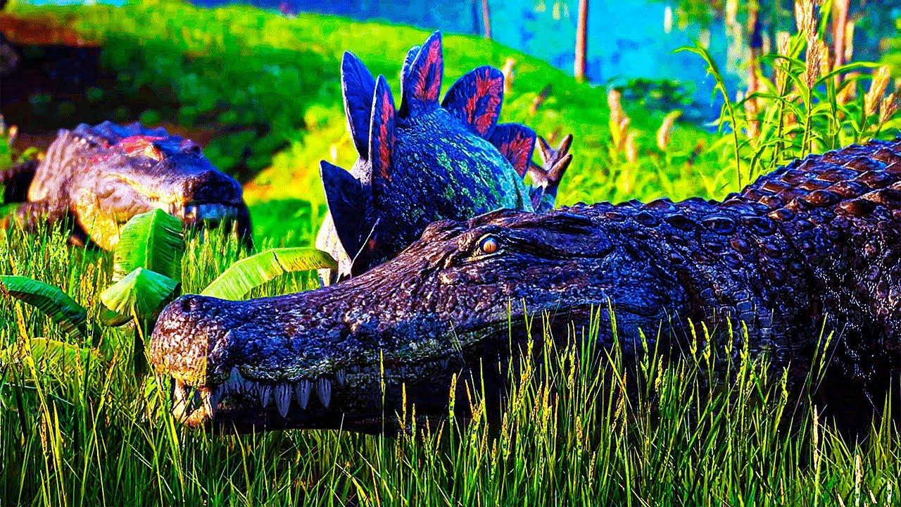 Download The Isle - Dupla de Deinosuchus Predador! + Pteranodonte Lutador de Sorte PT/BR|42