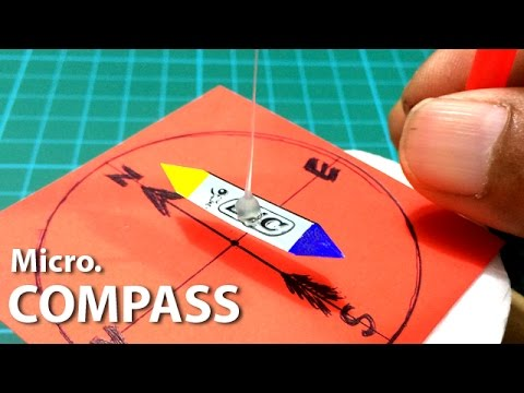 Create an Amazing Compass from your homemade materials (Micro Version) | Creative Channel