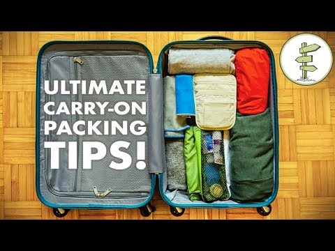 How To Travel With Only Carry-On Luggage - Minimalist Packing Tips & Hacks