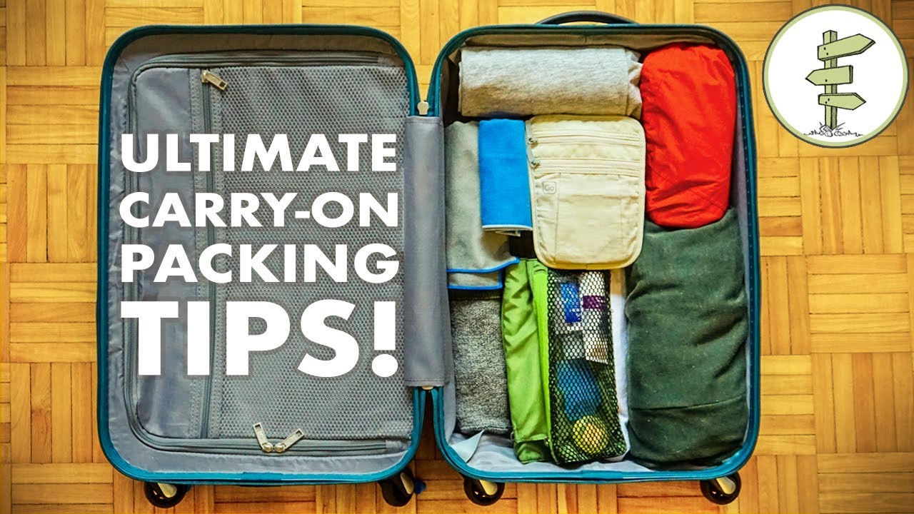 Minimalist packing tips hacks travel light with only How to pack a carry on suitcase video