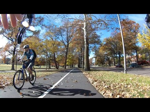 Autumn Windy Bike Ride Around Town City BikeBlogger