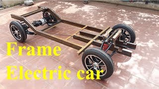TECH - Electric car with oil disc brakes part 3 - Frame the electric car