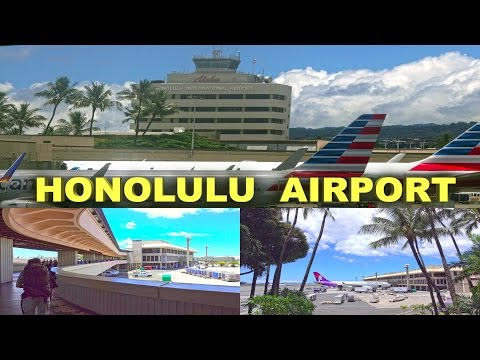 Honolulu International Airport, Oahu - Hawaii  4K