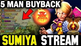 Intense 5 Man Buyback Crazy Game | Sumiya Invoker Stream Moment #1018