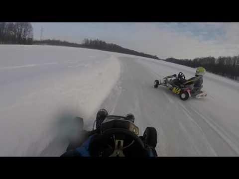 Ледовое побоище. Зимний картинг. Winter karting. Ice fighting. Rotax max. Honda. Гонки в нижнем.