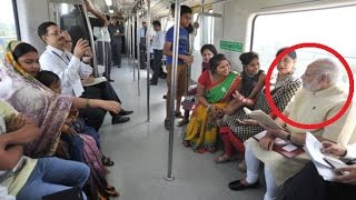 LIVE: Narendra Modi travels by Delhi METRO with co-passengers