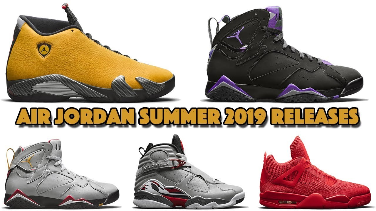 new product 78649 07c34 AIR JORDAN 14 YELLOW FERRARI, JORDAN 7 RAY ALLEN, REFLECTIONS OF A  CHAMPION, SUMMER 2019 AND MORE