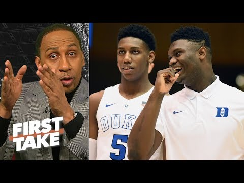 Stephen A. calls out Max for advising Zion Williamson to sit out Duke's title pursuit | First Take