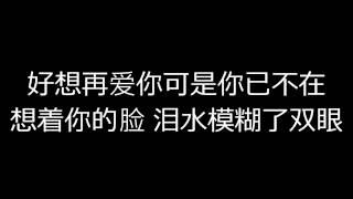 我好想你(好想再爱你)中文歌词-潘广益