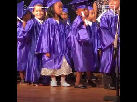 2e84743cd92 5-year-old girl celebrates Pre-K graduation with sassy dance moves ...