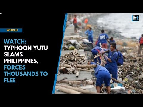 Watch: Typhoon Yutu slams Philippines, forces thousands to flee