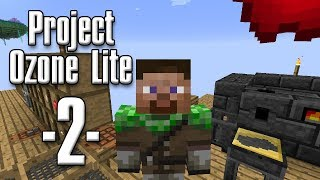 Minecraft - Project Ozone Lite #02 - OP Pickaxe og smeltery (HD)