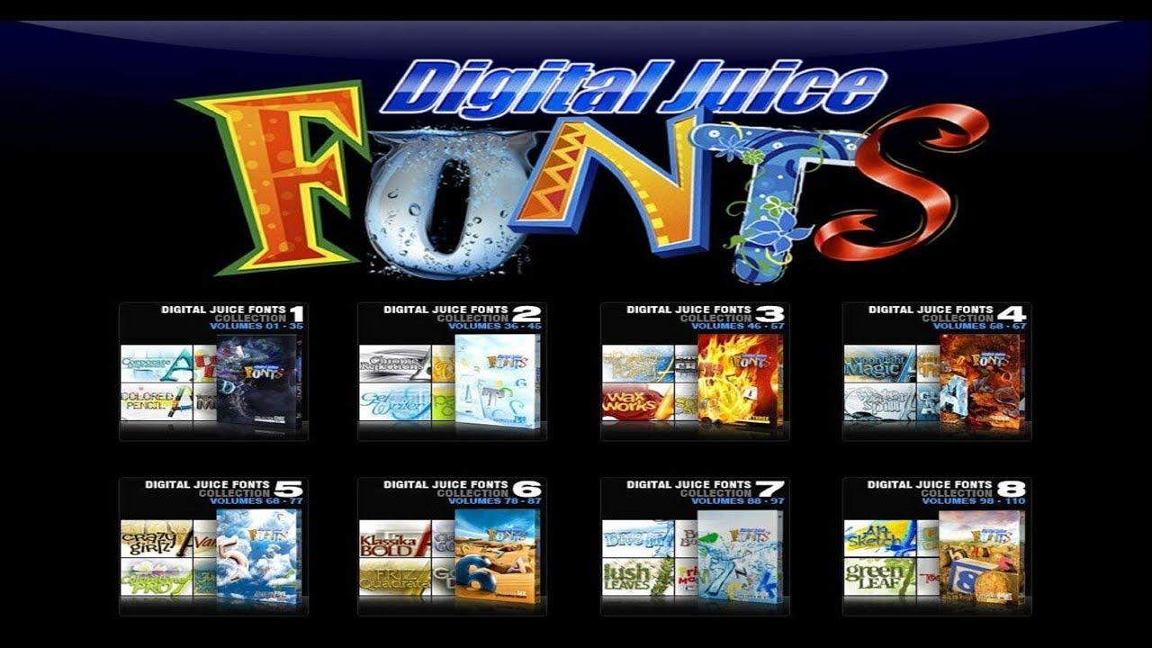 digital juice fonts collection 10