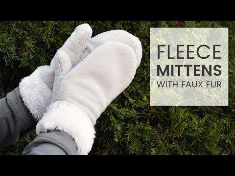 picture regarding Free Printable Fleece Sock Pattern named How toward Produce Fleece Mittens with Bogus Fur