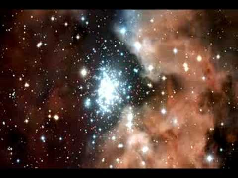 Panning on NGC 3603 (Hubble Stars Star Clusters Nebulae)