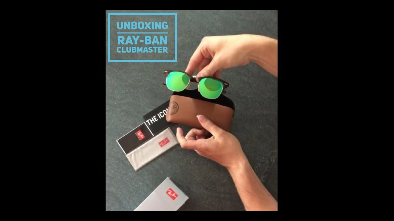 UNBOXING Ray-Ban Clubmaster | sunglasses | Large Version | HD