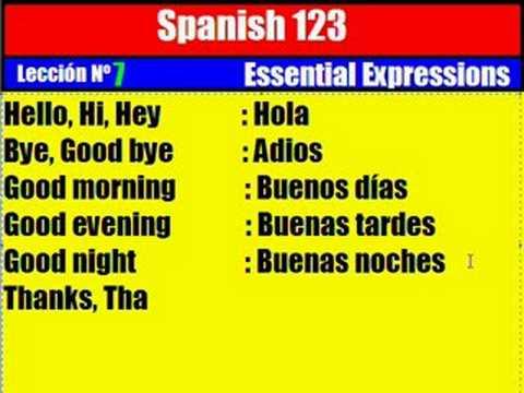 Spanish Lesson  7  Essential Expressions
