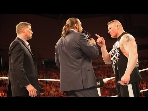 Brock Lesnar Attacks Triple H: Raw, April 30, 2012