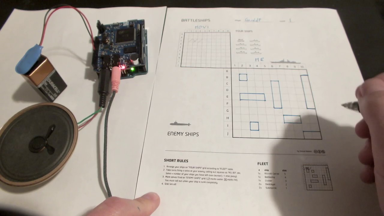 Voice Based Battleship Game For Arduino With Ai 8 Steps With Pictures Instructables