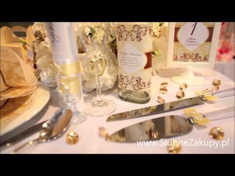 Weselne dekoracje w kolorze złotym i kremowym - najpiękniejsze propozycje