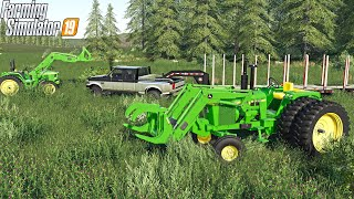 TRUCK AND CHAIN SAW (LIVE) #11 | NEW LOGGING SITE | FARMING SIMULATOR 2019