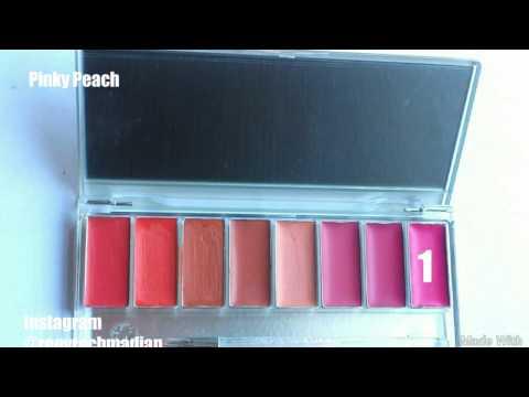 wardah-lipstick-palette-_-lip-swatches!