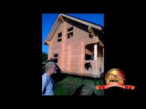 Дом 8х8 метров из ОЦБ 240мм, Владимирская область, Суздальский район, видеоотзыв