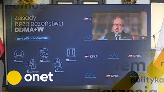 Koronawirus w Polsce. Nowe obostrzenia, konferencja prasowa ministra zdrowia