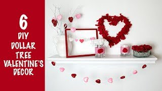 6 DIY DOLLAR TREE VALENTINE'S DECOR